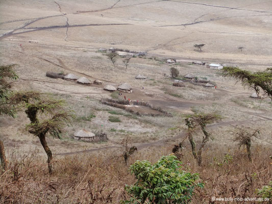 Tansania - Ngorongoro Conservation Area - Massai Dorf