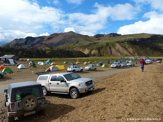 Island - Campingplatz in Landmannalaugar