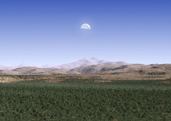 Den kaledonske fjellkjeden for 400 millioner pr siden. Kollisjonen av de europeiske og nordamerikanske platene hevet disse fjellene som ble høyere enn dagens Himalaya.