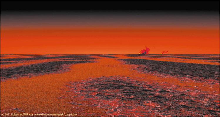 Sibir for 252 millioner år siden (seinperm). Flombasaltvulkanisme var utbredt i minst tre millioner år.
