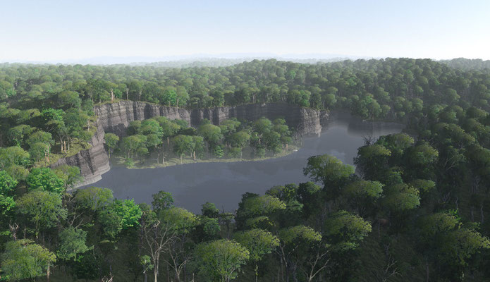 Miocene reconstruction of the sinkhole that formed the Gray Fossil Site in northeast Tennessee