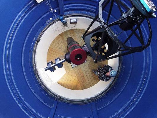 Teleskop rettet mot senit.
