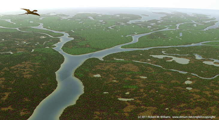 Middle Jurassic (Bajocian) delta between Norway and Scotland, 170 million years ago.