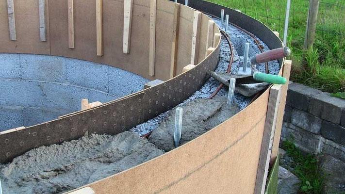 Sytti liter til med betong, så kan jeg begynne med avretningsmasse.