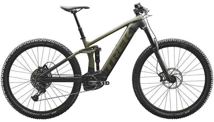 E-Mountainbike Trek Rail 5 olive