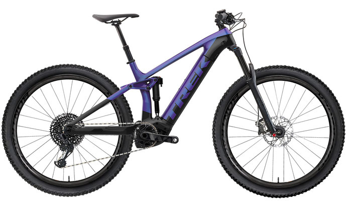 E-Mountainbike Trek Rail 5 purpleflip