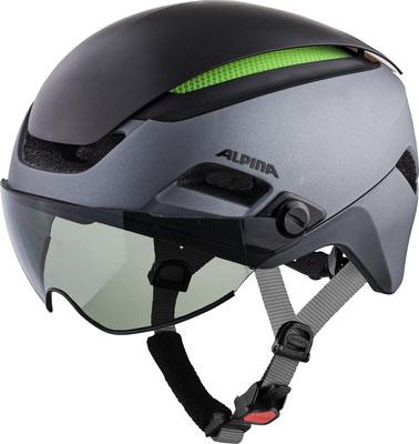 Velo und E-Bike Helm Alpina mit Visier kaufen im Veloatelier Wimmis bei Spiez