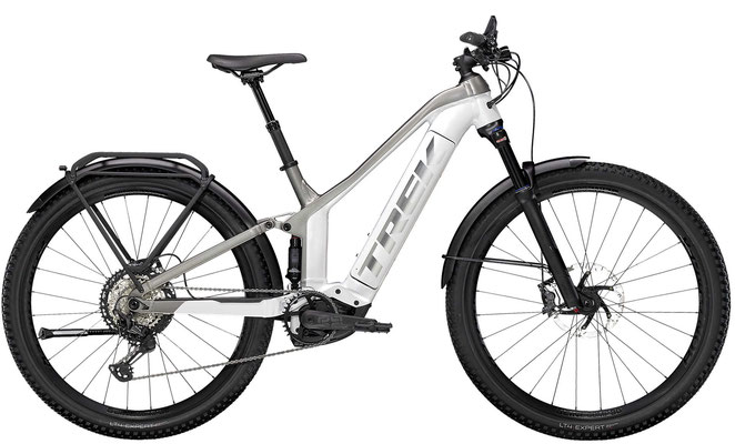 E-Mountainbike Trek Powerfly FS 9 Equipped weiss/grau