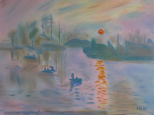 An Interpretation of Monet's Sunrise N/A