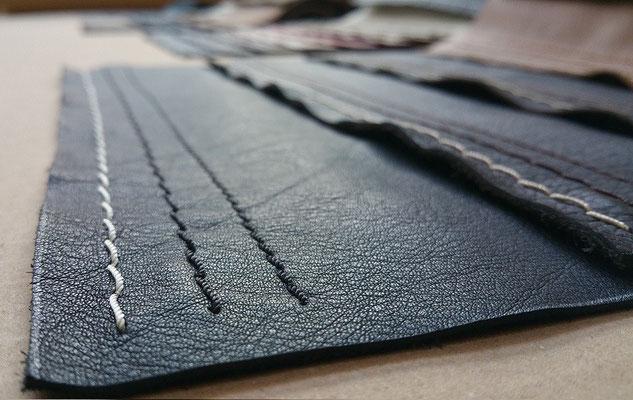 Unzählige hochwertige Leder uns Stoffe