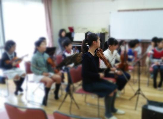 弦楽合奏練習