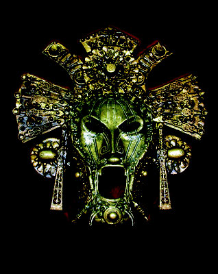 MOLINELLI - ARCHEOMORFI - 13 - THE MASK - 2004 - 46X43