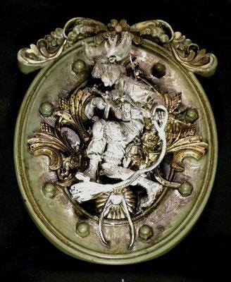 MOLINELLI - ICONE - 142 - IL DIO DEI COMBUSTIBILI FOSSILI - 2012 -21X27