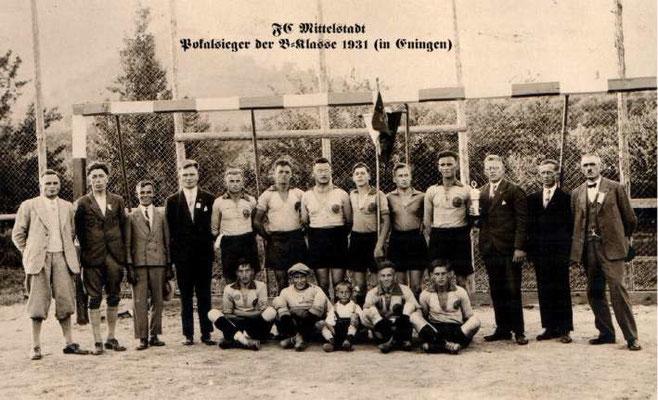 1. Mannschaft 1930/1931