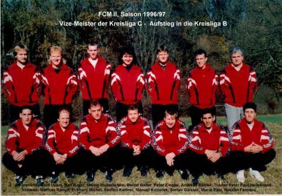 2. Mannschaft 1996/1997