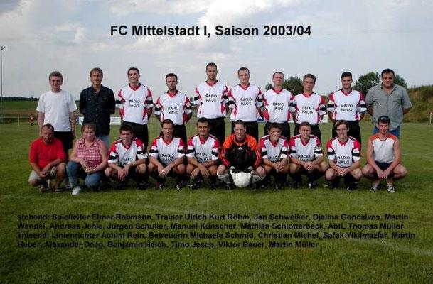 1. Mannschaft 2003/2004