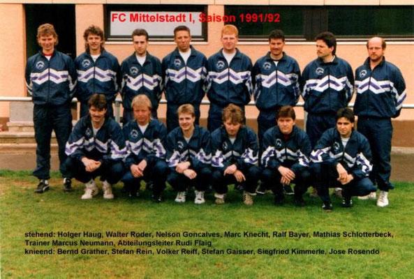 1. Mannschaft 1991/1192