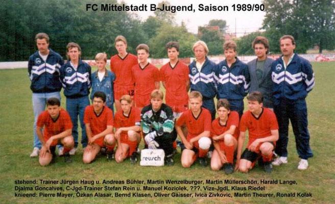 B-Jugend 1989/1990