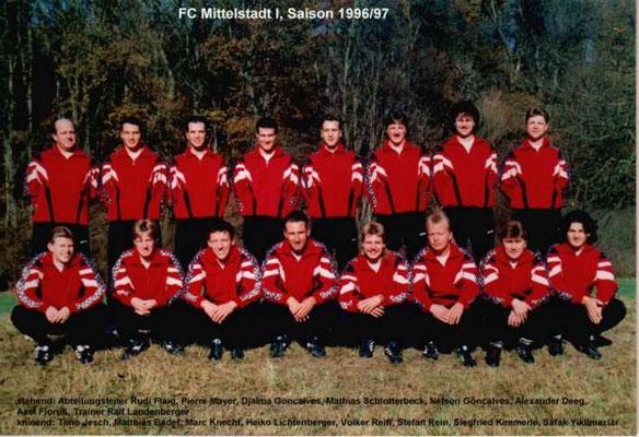 1. Mannschaft 1996/1997