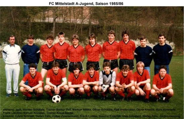 A-Jugend 1985/1986