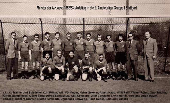 1. Mannschaft 1952/1953