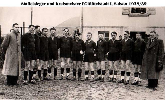 1. Mannschaft 1938/1939