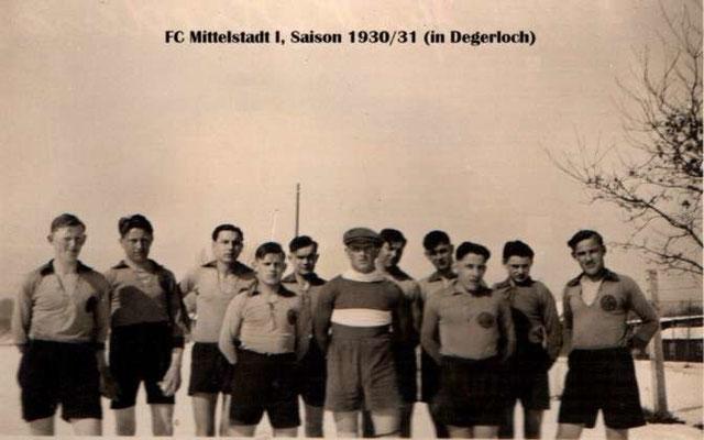 1. Mannschaft 1929/1930