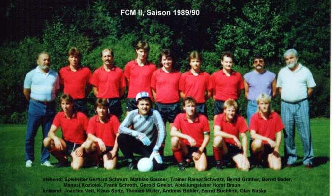 2. Mannschaft 1989/1990