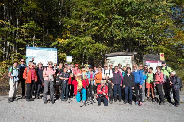 Start der Wanderung in Annaberg