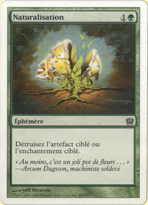 Naturalize French Ninth Edition front cut. Bold text, from theme decks.