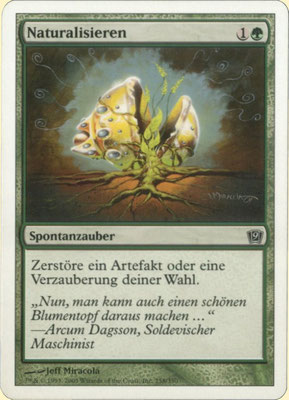 Naturalize German Ninth Edition. Bold text, from theme decks.