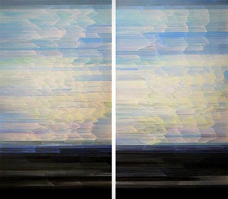 4.4.08 a- b, 160 x 90, Acryl auf Leinwand, 2008
