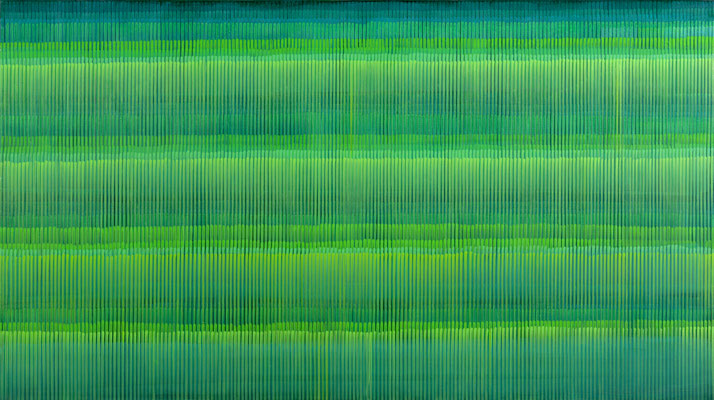 2. 1. 06, 90 x 160 cm,  Acryl auf Leinwnad, 2006