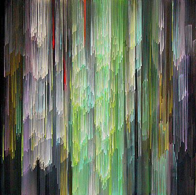 6. 1. 08, 90 x 90 cm, Acryl auf Leinwand, 2008