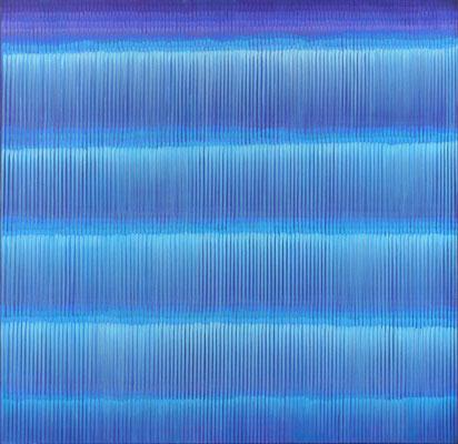6. 1. 03, 100 x100 cm, Acryl auf Leinwand, 2003