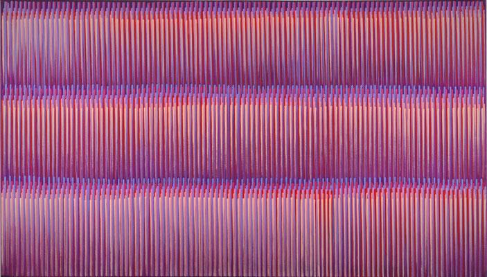 3. 4. 013, 80 x 140 cm, Acryl auf Leinwnad, 2013