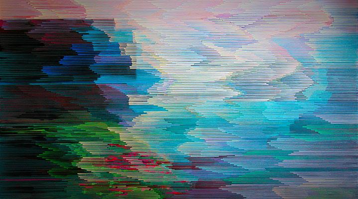 4. 4. 09, 90 x 160 cm, Acryl auf Leinwand, 2009