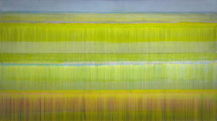 6. 2. 05, 90 x 160 cm, Acryl auf Leinwnad, 2005