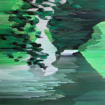 12. 1. 09, 90 x 90 cm, Acryl auf Leinwand, 2009