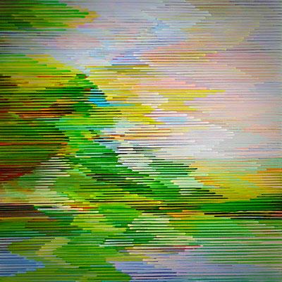 4.2.10, 80 x 80, Acryl auf Leinwand, 2010