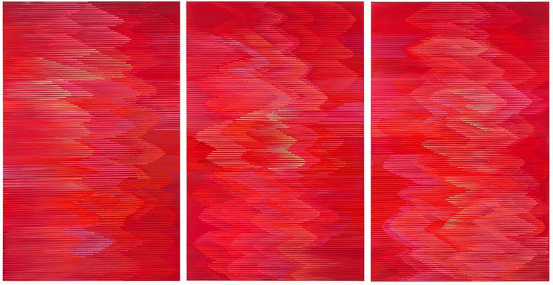4. 1. 013 a-b-c, 140 x 270,  Acryl auf Leinwand, 2013