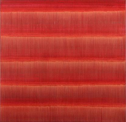 2. 1. 03, 100 x100 cm, Acryl auf Leinwand, 2003