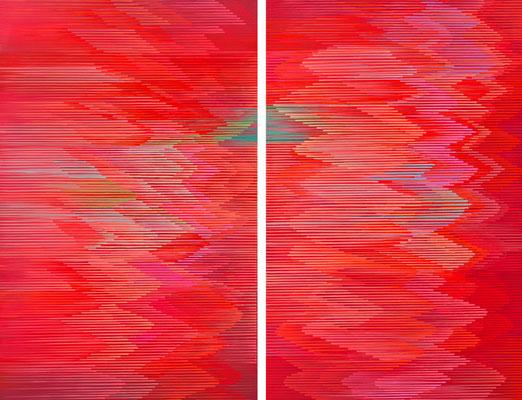 5. 1. 013 a-b, 140 x 180 cm, Acryl auf Leinwand, 2013