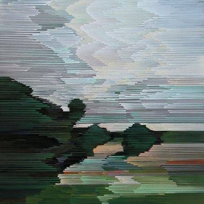 12.2.09, 90 x 90 cm, Acryl auf Leinwand, 2009