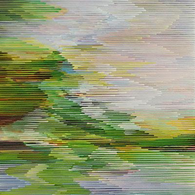4. 2. 010, 80 x 80 cm, Acryl auf Leinwand, 2010