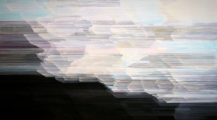 8.1.09, 90 x 160 cm, Acryl auf Leinwand, 2009