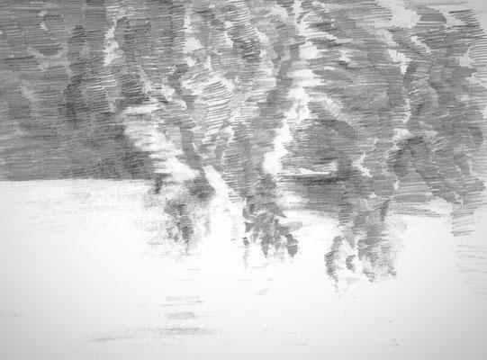 Skizze, 21 x 30 cm, Graphit auf Papier, 2009