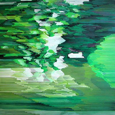 11.2.09, 90 x 90 cm, Acryl auf Leinwand, 2009