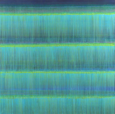 8. 1. 03, 100 x100 cm, Acryl auf Leinwand, 2003