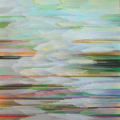 7.1.09, 90 x 90 cm, Acryl auf Leinwand, 2009